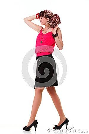 Full length woman in a turban