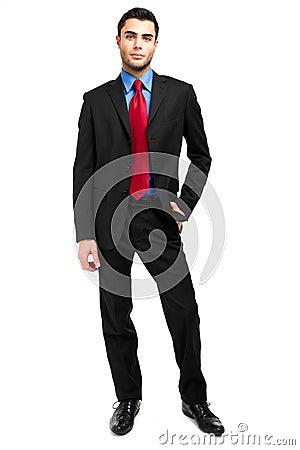 Full längd för affärsman