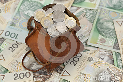 Coins and banknote