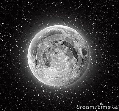 Free Full Moon Royalty Free Stock Photos - 7255108