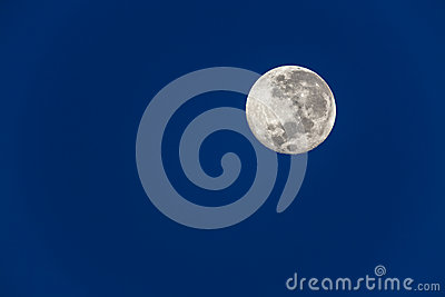 Full Moon Blue Sky
