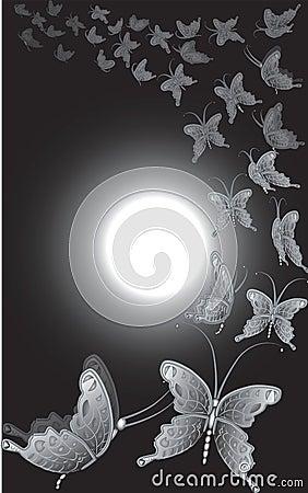 Full moon butterflies
