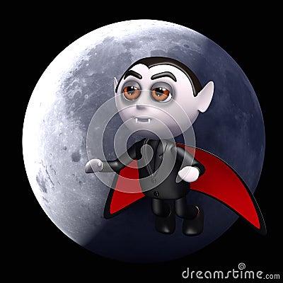 Full moon 3d Dracula