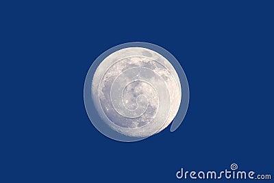 Full moon daytime