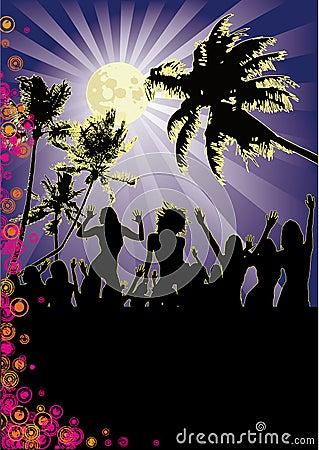 Full Moon Girls Beach Party Flyer
