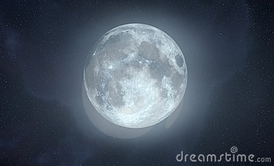 Full Moon with glow effect