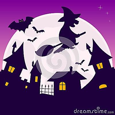 Full Moon Halloween Night