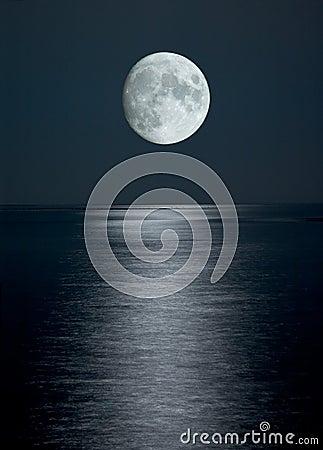 Free Full Moon In Black Sky Stock Image - 2202071