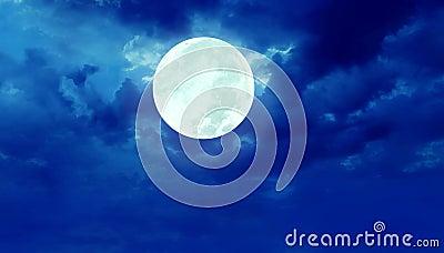 Full moon night sky Stock Photo