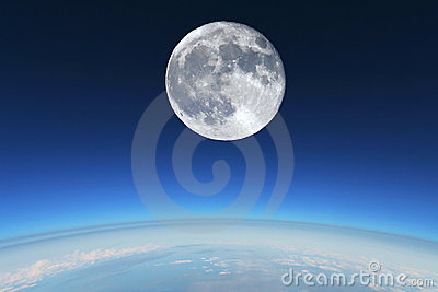 Full Moon over Earth s stratosphere