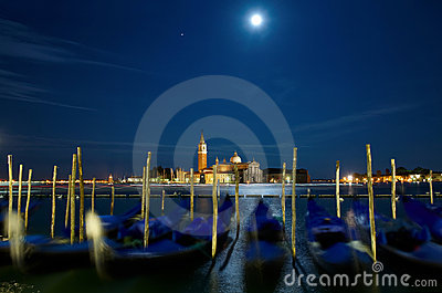 Full moon over Grand Canal