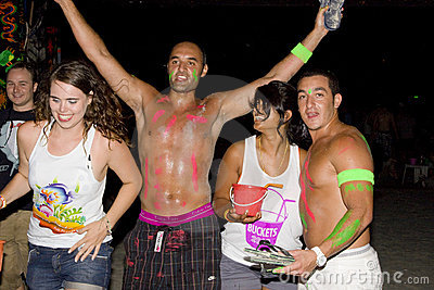 FULL moon party in Phangan, Thailand. Editorial Image