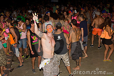 FULL moon party in Phangan, Thailand. Editorial Photo