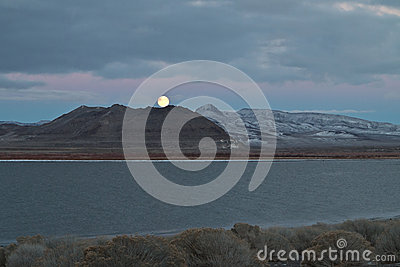 Full Moon, Pyramid Lake, Nevada