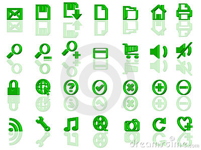 Full set of 3d web icons