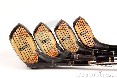 Full set of laminated golf woods