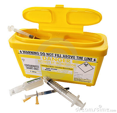 Free Full Sharps Container Royalty Free Stock Photo - 16276245