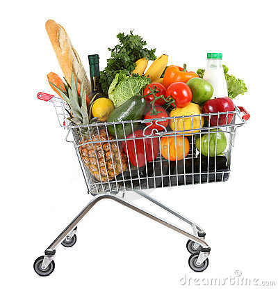 Free Full Shopping Trolley Stock Image - 12081791