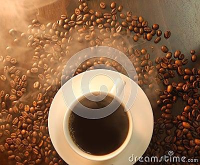 Full of smoke coffee bean