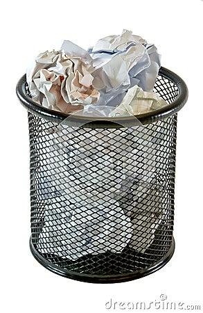 Full trash bin