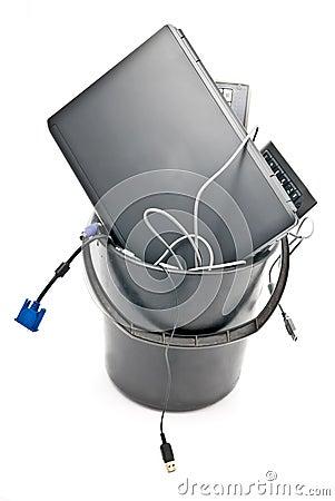 Full trash of used hardware