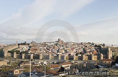 Full view from the city of Avila, Spain.
