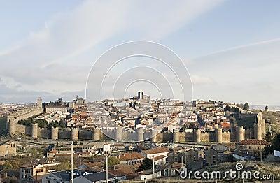 Full view from the city of Avila, Spain.