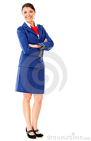 Fullbody flight attendant