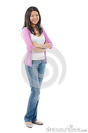 Fullbody Southeast Asian woman