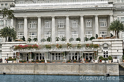 The Fullerton Hotel, Singapore Editorial Stock Photo
