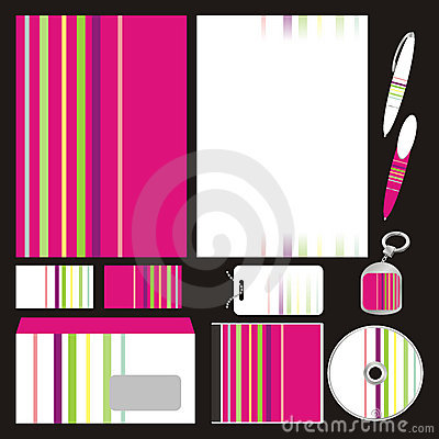 Fully editable vector business templates set ready