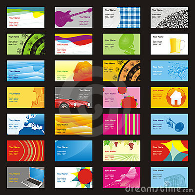 Fully editable vector visit cards with different l