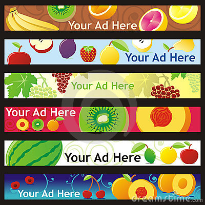 Fully editable vector web banner with different la