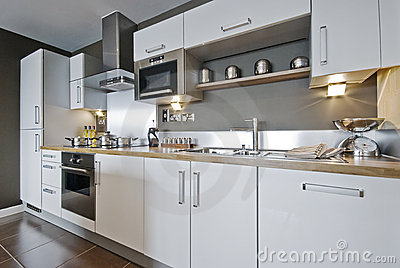 Fully Fitted Modern Kitchen Royalty Free Stock Image - Image: 10488606