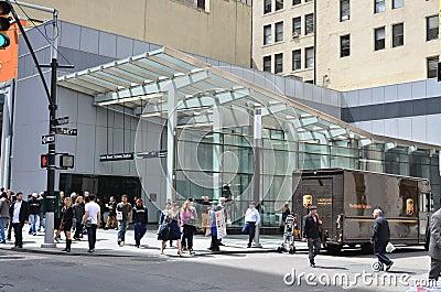 Fulton Street Subway Station Editorial Stock Photo