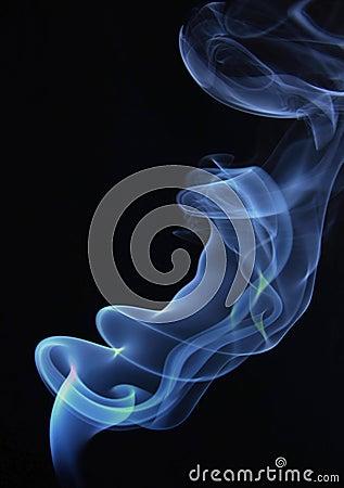 Fume rises up