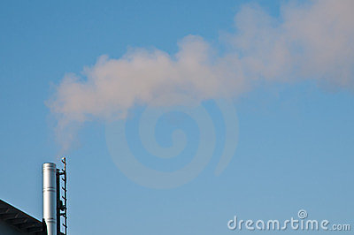 Fume from a smokestack of a power station