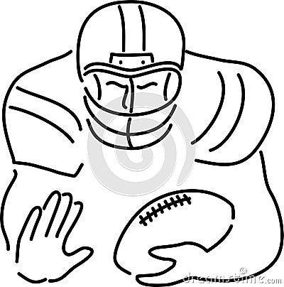 Fumetto del giocatore di football americano