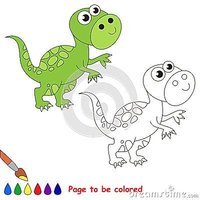 Fumetto di tirannosauro pagina da colorare illustrazione - Lederhosen pagina da colorare ...
