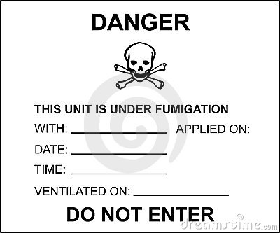 Fumigated unit placard for transport