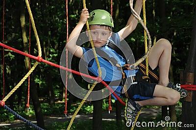 Fun in adventure park