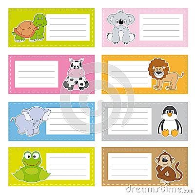 Fun animal stickers