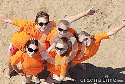 Fun on a beach