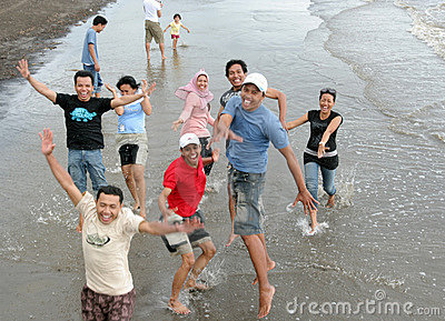 Fun on beach