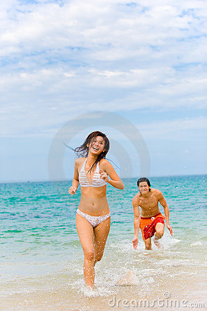 Free Fun By Sea Royalty Free Stock Photos - 4896908