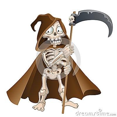 Fun cartoon vector death on a white background