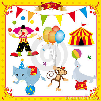 Free Fun Circus Set Stock Images - 18396214