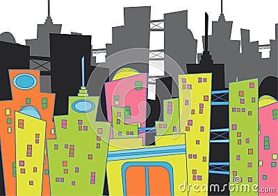Fun cityscape