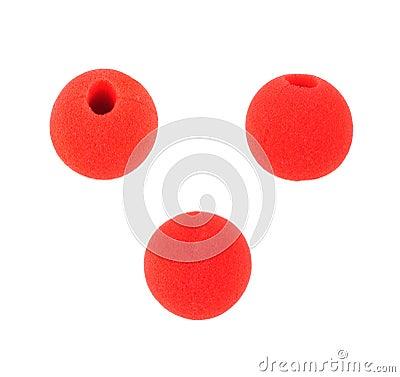 Fun clown red nose wear