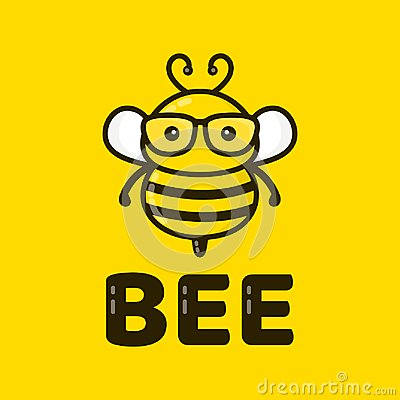 Free Fun Cute Smart Bee In Glasses. Vector Royalty Free Stock Image - 100665966